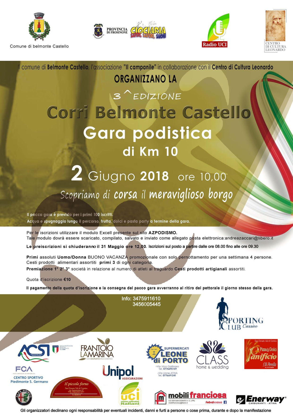 Calendario Podismo Lazio.Gestione Gare Podistiche Classifiche Calendario Gare